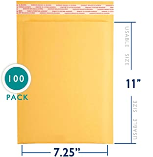 7.25x12 inches Kraft Bubble Mailer Self Seal Bubble Shipping Envelopes 100 Pack