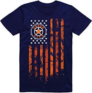 INKtastictees Houston City Htown Orange Flag Baseball Fan T-Shirt