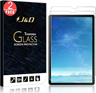 J&D Compatible for 2-Pack Galaxy Tab S5e Glass Screen Protector, [Tempered Glass] [Not Full Coverage] HD Clear Ballistic Glass Screen Protector for Samsung Galaxy Tab S5e Screen Protector