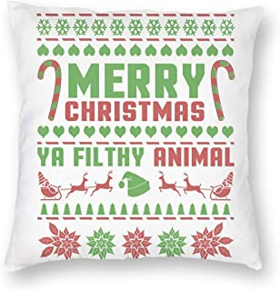 """18"""" x 18"""" Christmas Pillow Covers Xmas Holiday Decorative Square Pillowcases for Farmhouse Home Couch Sofa Bed Breathable ..."""
