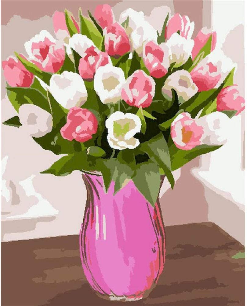 HRKDHBS DIY Oil Paint by Number Kit Beautiful 40X50Cm Flower Albuquerque Mall wi Ranking TOP6