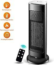 Ventilador Torre, Silence Cerámico Oscilante Frío Calor 3 Modos Termostato con Sensor Antivuelco Protección Sobrecalentamiento,Remotetype