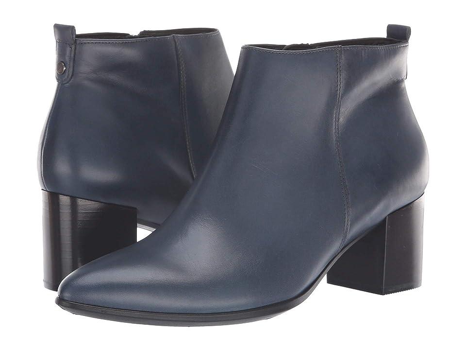 ECCO Shape 45 Block Bootie (Pavement Calf Leather) Women