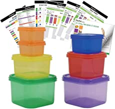 Prefer Green 7 PCS Portion Control Containers Kit (with COMPLETE GUIDE & 21 DAY DAILY TRACKER & 21 DAY MEAL PLANNER & RECI...