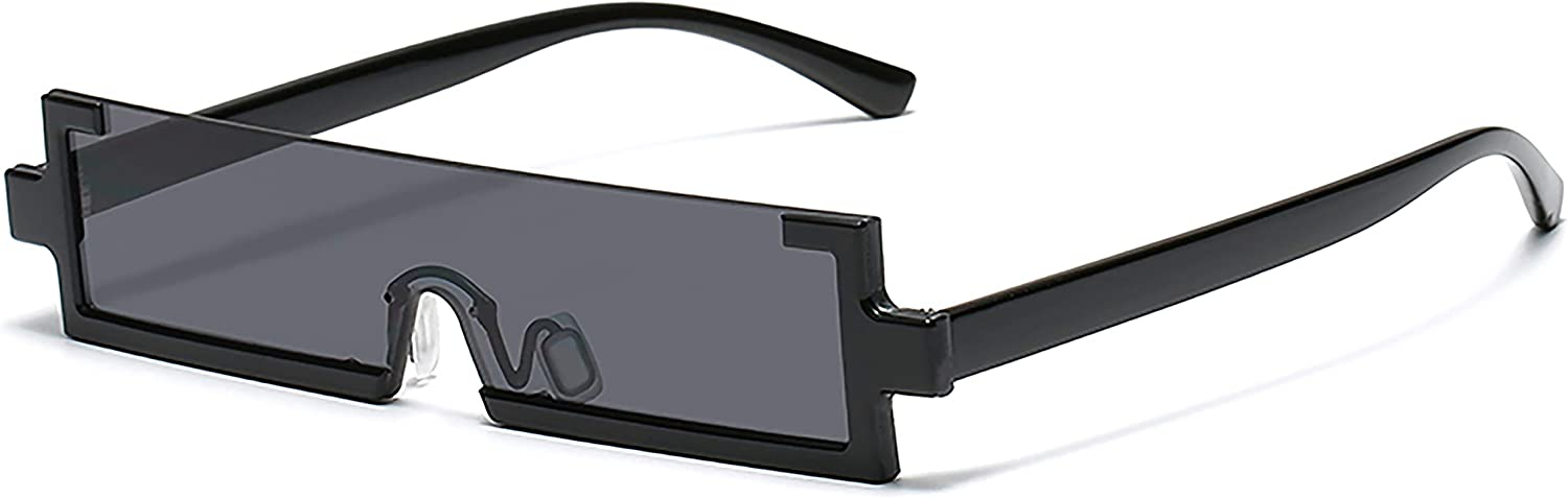 MRJHS Rectangle Sunglasses Fashion Great interest y2k 90s Ranking TOP14 Rimles Square Glasses