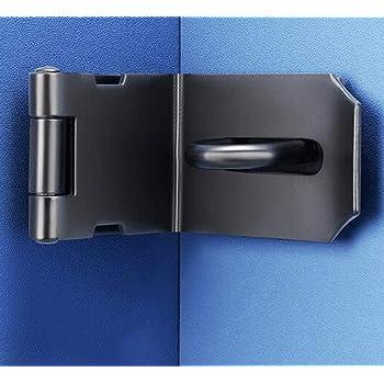 YUM cerradura de gancho de puerta negra de 90 grados cerradura de esquina antirrobo de acero inoxidable, cerradura de puerta y ventana, puerta corredera/cerradura de puerta de granero: Amazon.es: Bricolaje y herramientas