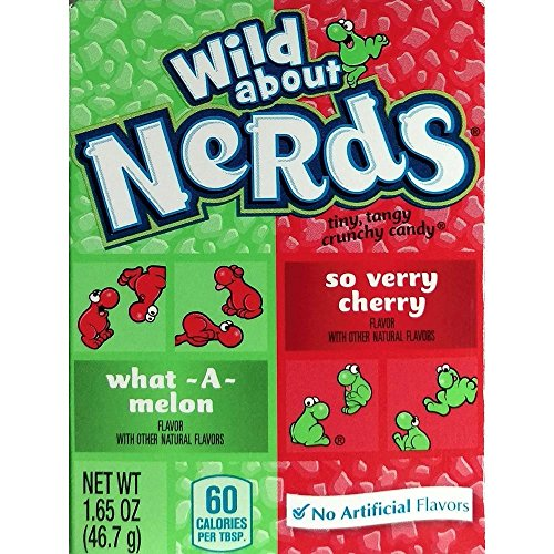 Wonka Wild about Nerds 46,7g Packung what a melon & so verry cherry (Bonbons Melone & Kirsche)