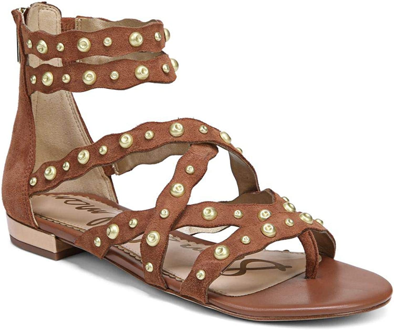 Sam Edelman Womens Daya Suede Open Toe Casual Gladiator Sandals