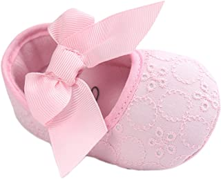 Baby Girls Princess Bowknot Soft Sole Cloth Crib Shoes Sneaker