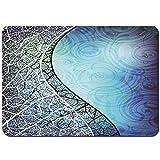 YANAIX Alfombra de Baño,Vectores de Fondo Azul y Curva de GraphicRiver,Súper Suave Multiuso Lavable a Máquina75x45cm