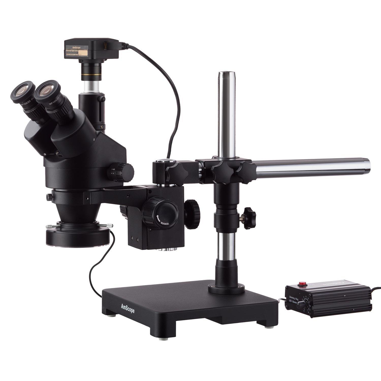 AmScope 7X-135X Black Trinocular Stereo on Microscope Singl Zoom Denver San Francisco Mall Mall