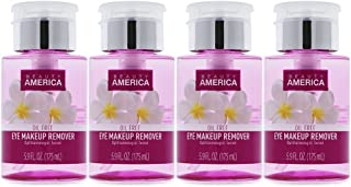Beauty America Gentle Eye Makeup Remover Oil-Free, No-Leak, Push-Top Pump, 4 pack