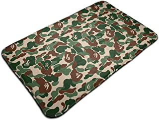 Aniaml Bape Camouflage Green Kitchen Carpet Rug Door Mat Rug for Bathroom Outdoor Porch Laundry Living (19.5