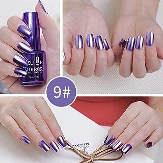 drivero Mirror Nail Polish Women Fsahion Mirror Effect Design Metallic Nail Polish Art,Blue Purple