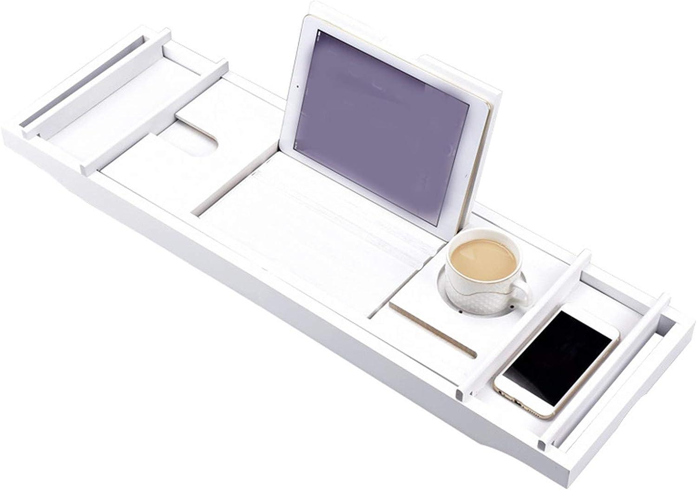 LIUMANG Durable and Delicate Bamboo Bathtub Non-Slip Max Easy-to-use 51% OFF Rack Telesc