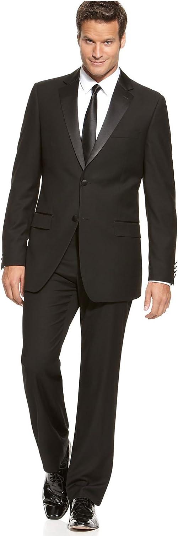 IZOD Mens Black Tuxedo Suit