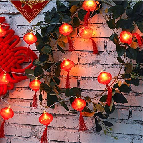 YMOMY 10/20/30/50/100M Linterna Roja Tradicional Linterna LED Cuerda De Luz Fiesta De Año Nuevo Decoración del Árbol del Jardín del Hogar (Emitting Color : Red, Wattage : 100M 800LEDs EU)