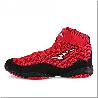 FJJLOVE Men's Boxing Shoes, Breathable Boxer Boots Lace Up Wrestling Sneaker No-Slip Martial Arts Shoes for Women Kids Boy...