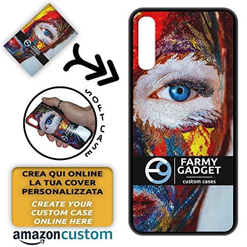 FarmyGadget Cover Case Custodia Personalizzata Morbida Soft TPU - Personalizzabile con Foto, Immagine, Testo, Loghi per Samsung A50 (SM-A505) / A30s (SM-A307)