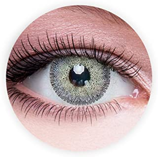 Dahab Lumirere Gray Contact Lenses, Unisex Dahab Cosmetic Contact Lenses, Nine Months Disposable- Eye Enlargement Collecti...
