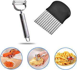 Cortador de patatas y raspador kuaetily, cortador de ondas, cuchillo de colores, rallador de frutas y verduras en la cocina.