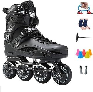 成人用ローラースケート、取り外し可能および洗える インラインスケート(初心者用) 黒、白 (Color : Black, Size : 44 EU/11 US/10 UK/27cm JP)