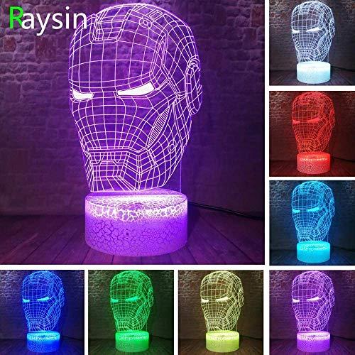 Movie Warehouse legende 3D illusie slaap nachtlampje multicolor cool USB-poort Adult Boy cadeau