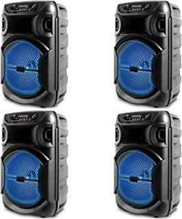 $176 » Sponsored Ad - (Qty 4) Portable 8 Inch Portable 1000 watts Bluetooth Speaker with Woofer & Tweeter, Festival PA LED Speake...
