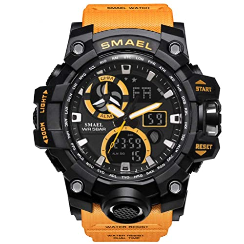 044946ac3ce Richermall Men s Sports Analog Quartz Watch Dual Display Waterproof Digital  Watches with LED Backlight relogio masculino