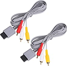 AV Cable for Wii Wii U, 2 Pack Audio Video Cable Composite Retro Standard Cord for Nintendo Wii Wii U
