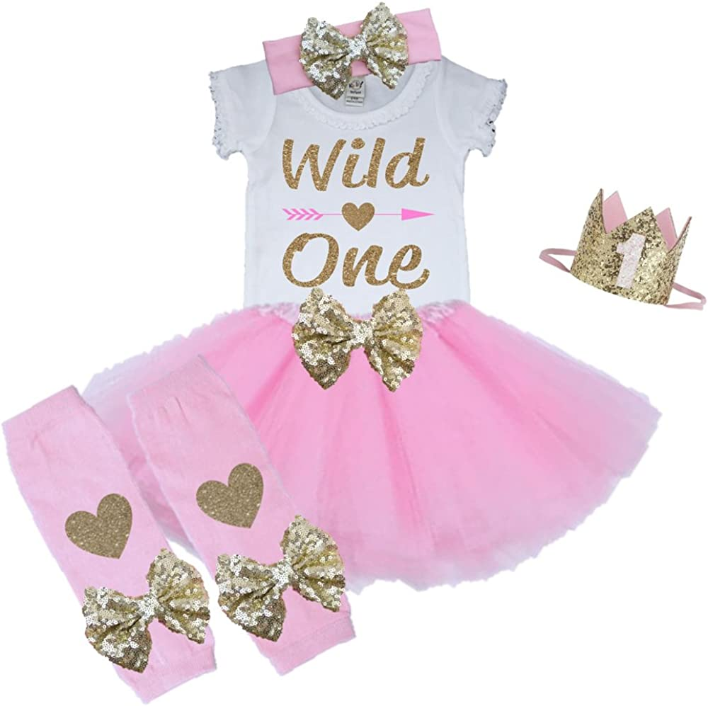 first birthday outfit Wild One Birthday Girl,PICK YOUR COLORS /& Size Gold Fabric tutu skirt Mint Coral Wild One outfit Girl Pink