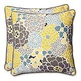 Pillow Perfect Outdoor Full Bloom Throw Pillow, 18.5-Inch, Set of 2 lumbar cushion Dec, 2020