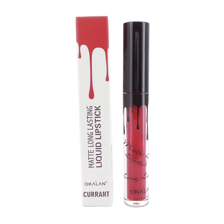 家事地元フォアタイプ(3 Pack) OKALAN Matte Long Lasting Liquid Lipstick - Currant (並行輸入品)
