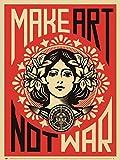 Make Art Not War by Shepard Fairey Art Print, 18 x 24 inches