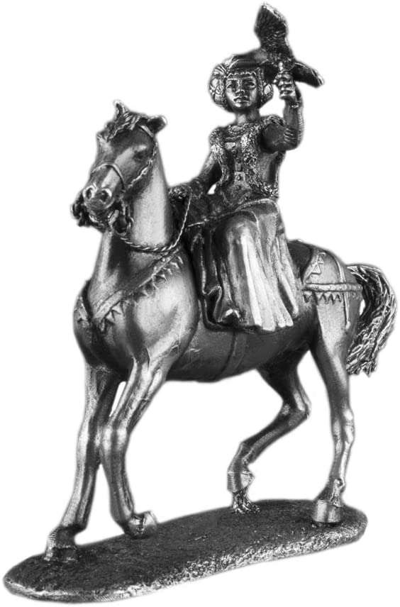 Ronin Miniatures Max 44% OFF - Woman Max 51% OFF with Metal Falcon Sculpt on Horseback
