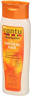 Cantu Natural Hair Shampoo Cleansing 13.5 Ounce(Sulfate-Free) (399ml) (2 Pack)