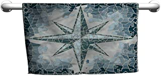 alisoso Compass,Kitchen Towels Fresco Style Blue Windrose W 24
