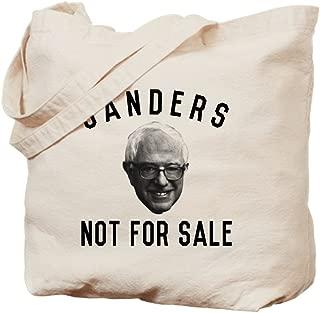 CafePress Bernie Sanders Not For Sale Natural Canvas Tote Bag, Reusable Shopping Bag