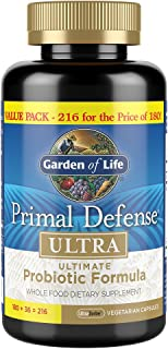 Garden of Life Whole Food Probiotic Supplement, Primal Defense Ultra Ultimate Probiotic Dietary Supplement ...