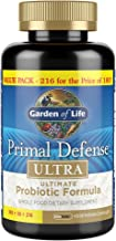 Garden of Life Whole Food Probiotic Supplement - Primal Defense Ultra Ultimate Probiotic Dietary Supplement for Digestive and Gut Health, 216 Vegetarian Capsules