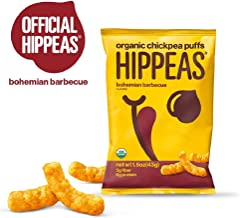 HIPPEAS Organic Chickpea Puffs Bohemian Barbeque | 1.5 ounce, 12 count | Vegan, Gluten-Free, Crunchy, Protein Snacks