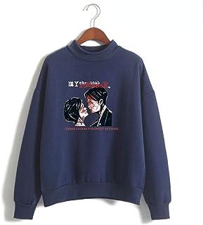 U CAN My Chemical Romance Hoodie Unisex Warm high collar sweater Long Sleeve Sweatshirt hoodies