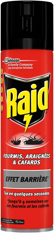 Raid hormigas aerosol), arañas & cucarachas–efecto–Barrera, 400ml–juego de 4