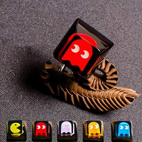 Handmade Pac-Man OEM R4 Resin Keycap Translucent Backlit Keycaps for Cherry MX RGB Switch Gaming Mechanical Keyboards DIY Replace