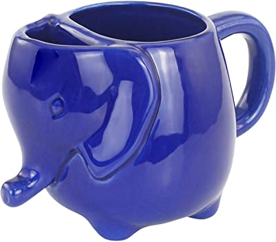 Elephant Tea Mug 15oz (Navy Blue)