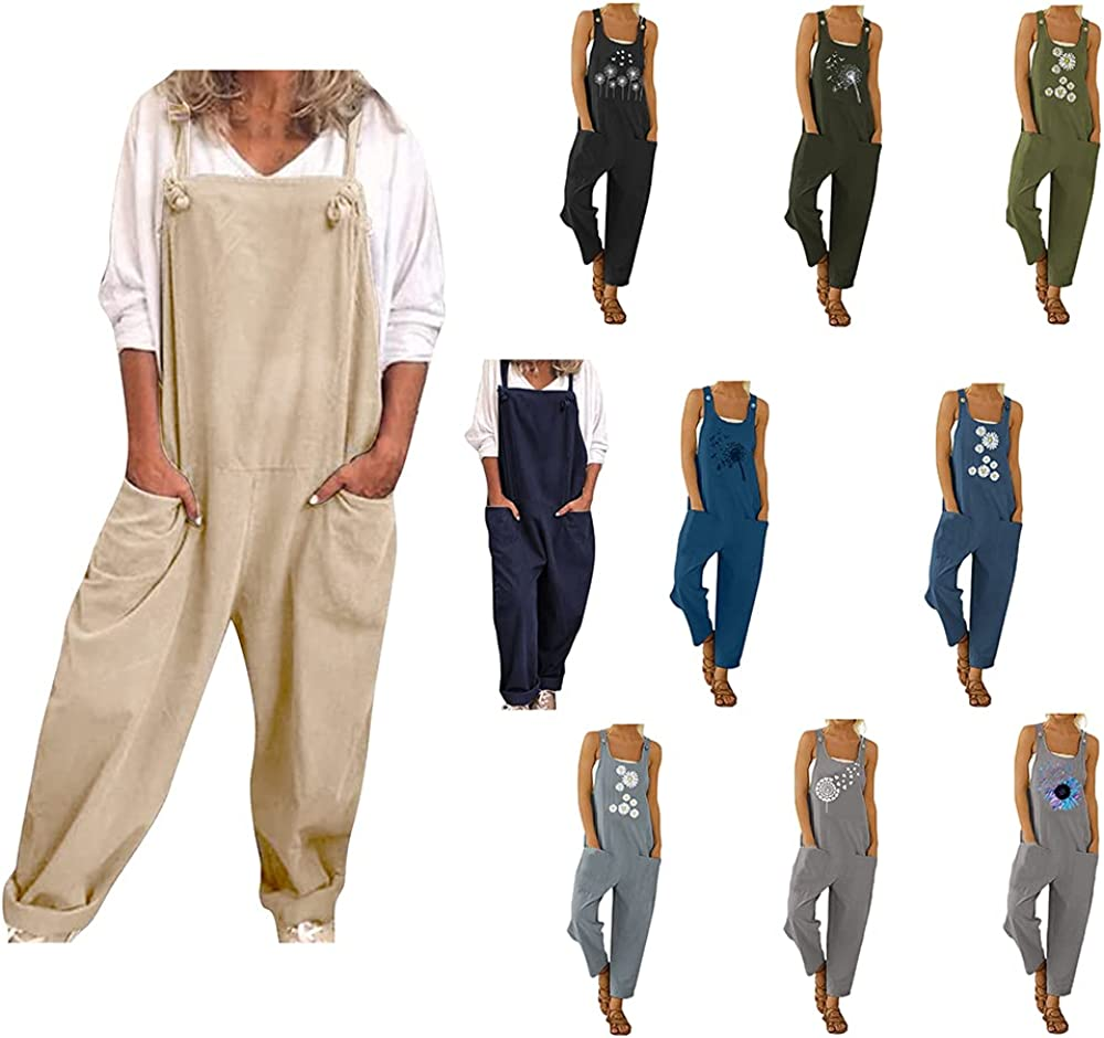 Women's Jumpsuits Overalls Casual Loose Baggy 67% OFF of fixed price Pri Bib New popularity Pants Long