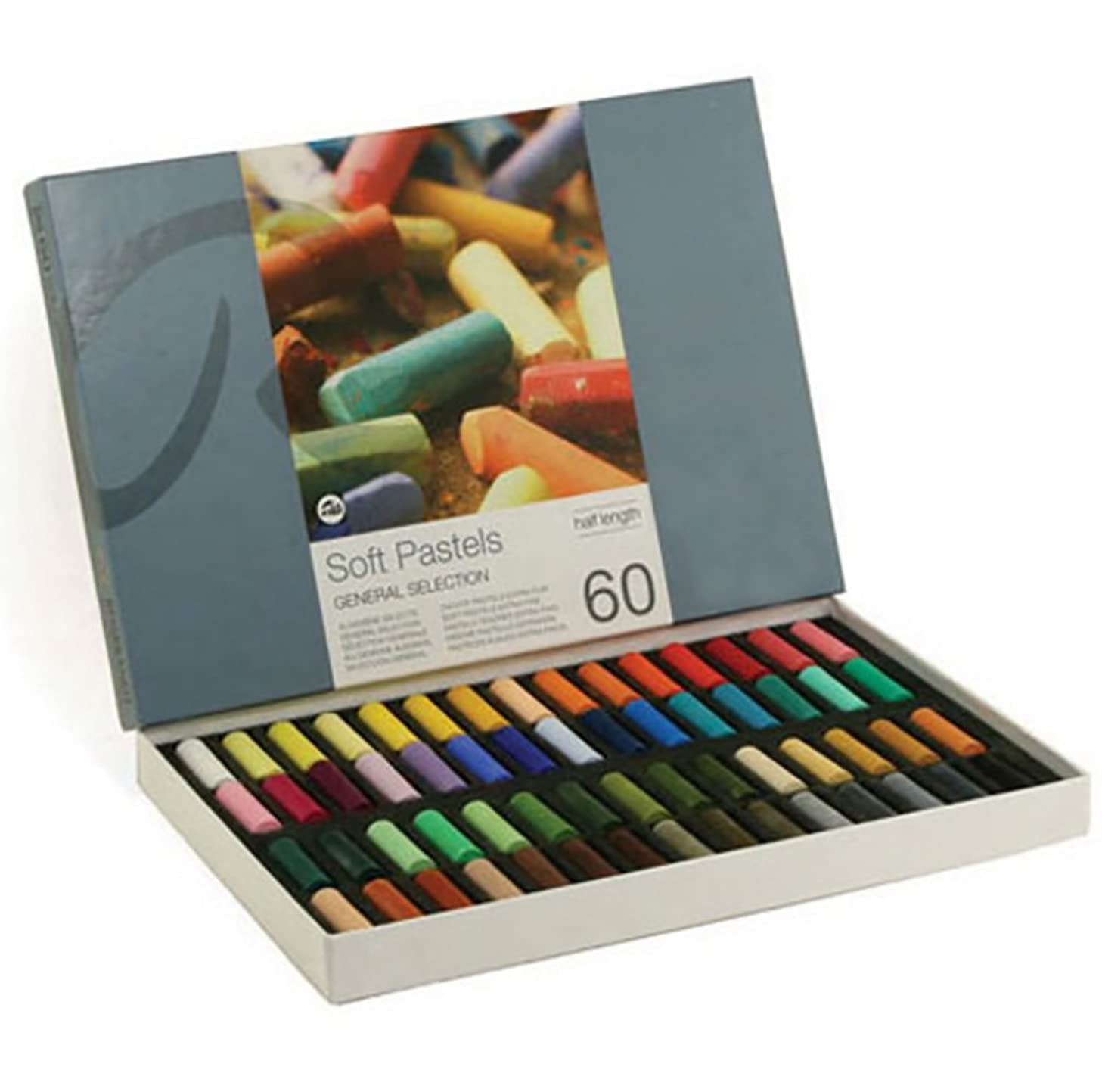 ArtVerse Pastel Stick Set-Half Size-Assorted Colors-60 Pieces 6