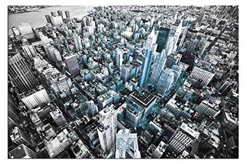 Pyramid International A04463 - Stampa su tela, soggetto: Torre di New York, dimensioni a scelta, incorniciata su telaio, 60 x 40 cm