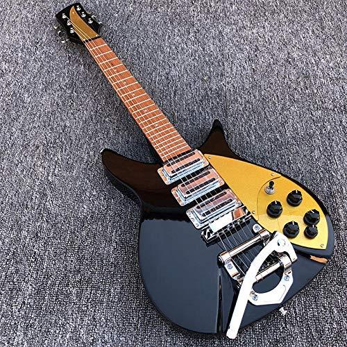 MLKJSYBA Guitarra Guitarra Eléctrica Guitarra Eléctrica Negra con Protección De Pico Dorado...