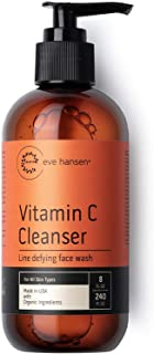 Eve Hansen Vitamin C Face Wash | HUGE 8 oz Anti-Aging Skin Cleanser for Dark Circles, Age Spots and Fine Lines | Blackhead...